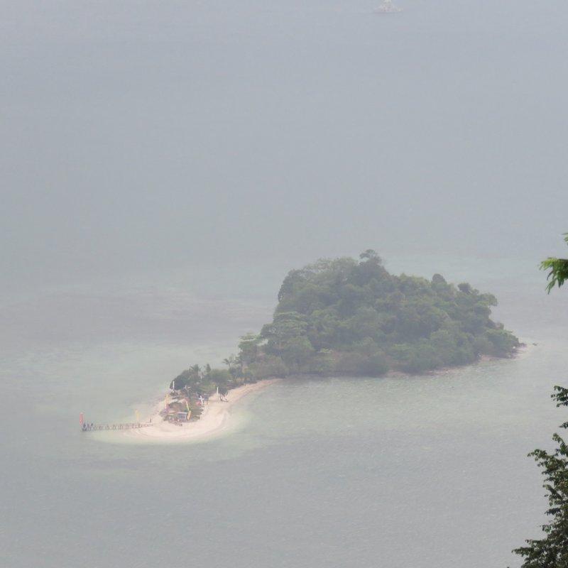 Island on Lampung sea