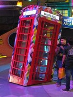 Sinking phone booth