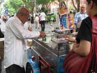 Ice cream man in action