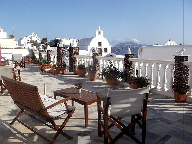 My front deck at Oia