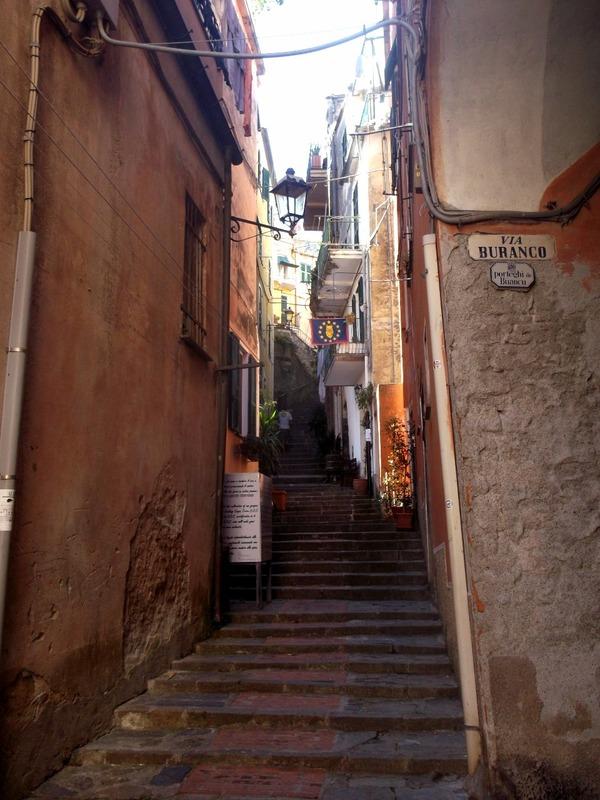 past narrow alleys