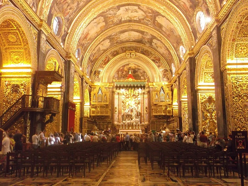 the baroque golden opulence inside