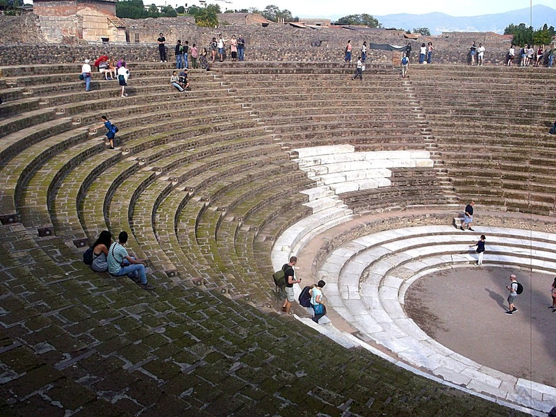Where Greek and Roman plays were staged