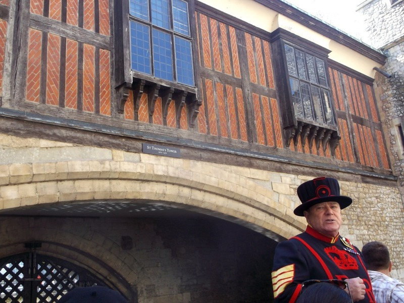 on the Beefeater guided tour