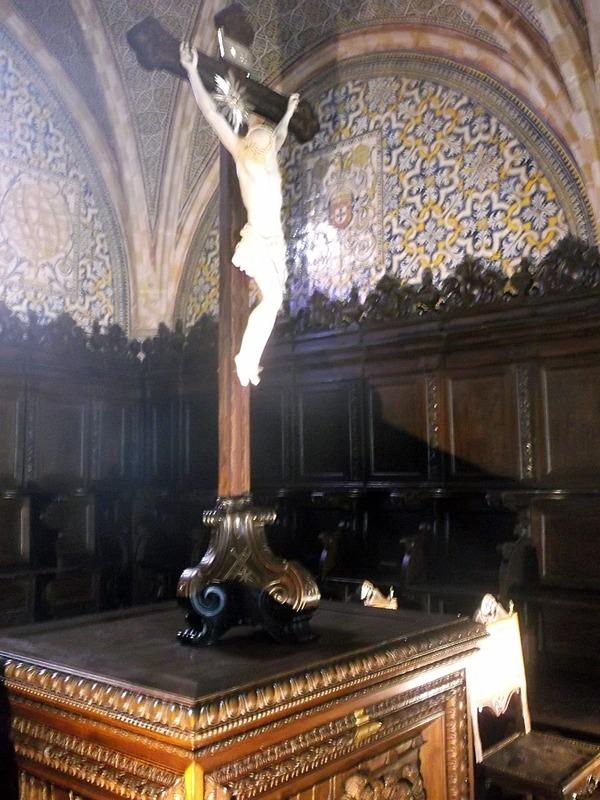 with its mahogany choirstalls