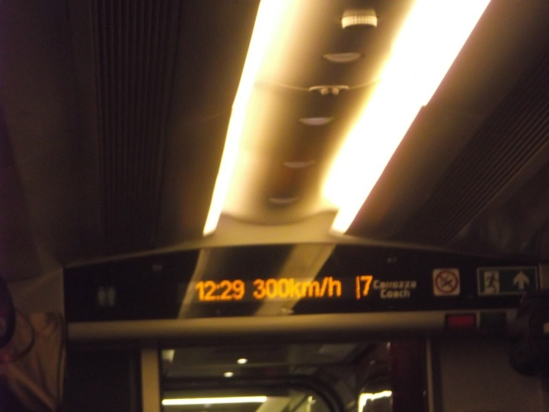Train between Rome and Venice doing 300kph