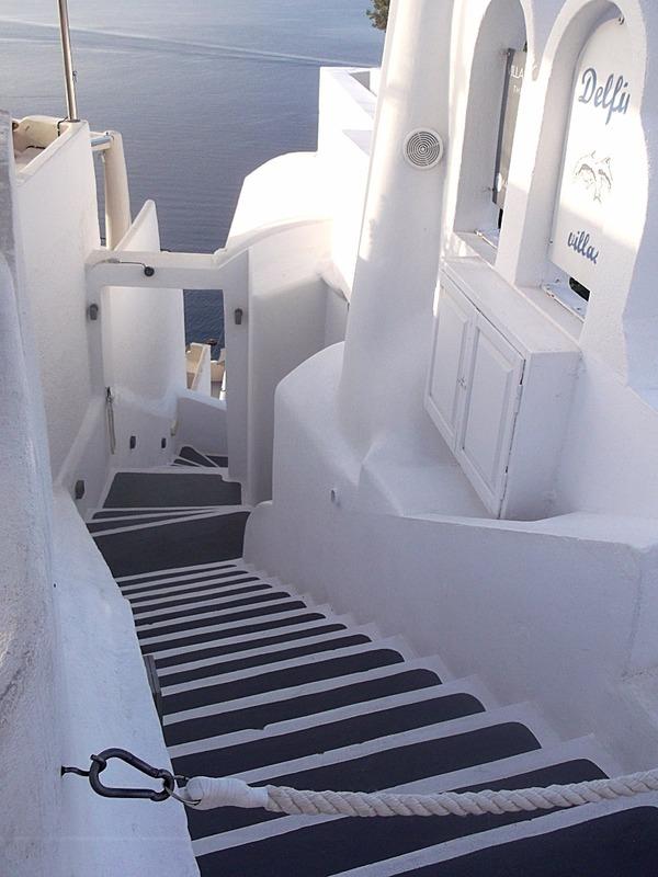 steps to a villa