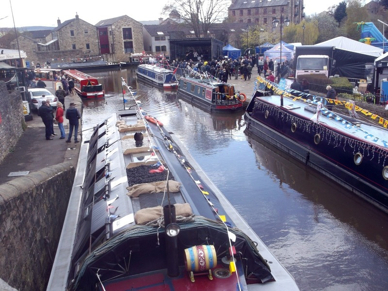 Boats on the canal at Skipton