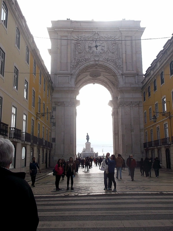 looking back to the Plaza through the Arch