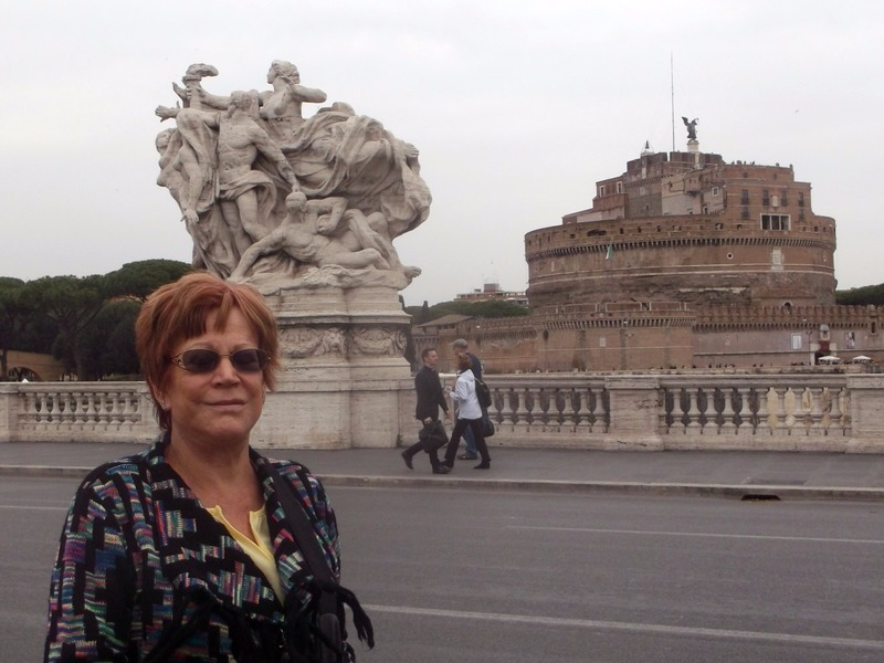Crossing the bridge to St Peters Square
