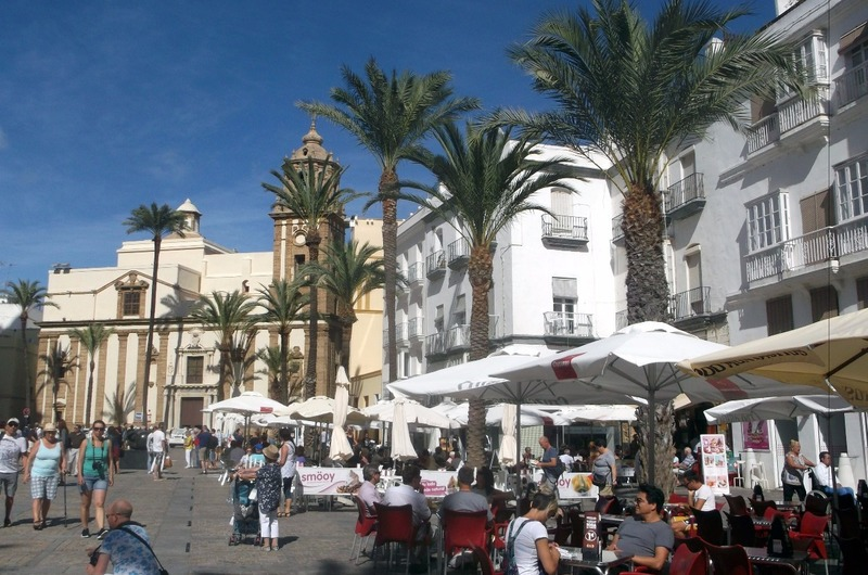 in a square outside Cadiz central markets