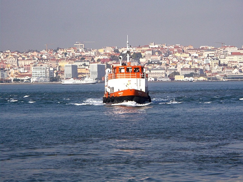 ferry across the Tagus river