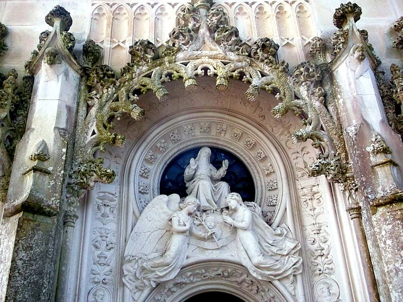 above the chapel entrance