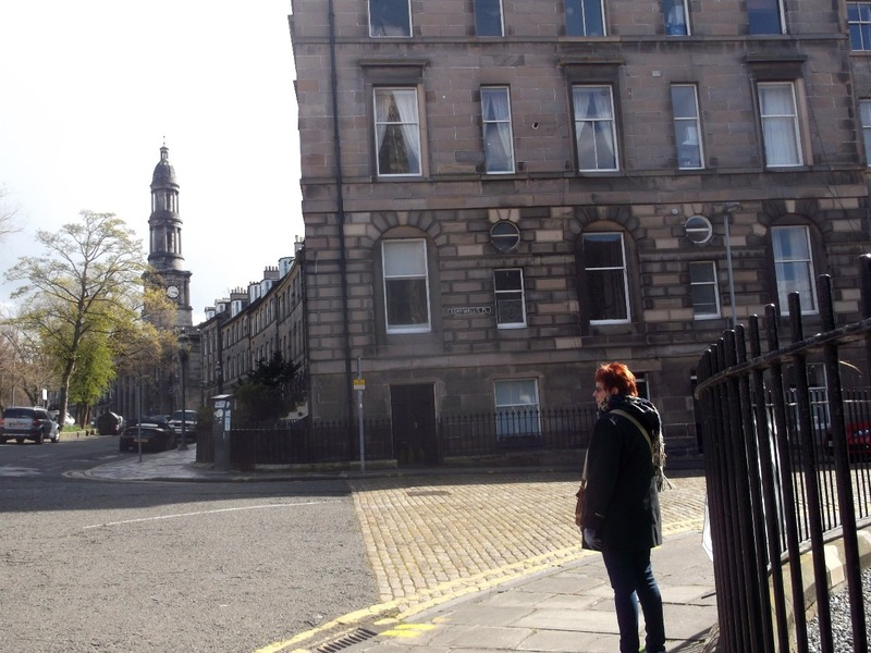 Outside our Edinburgh apartment