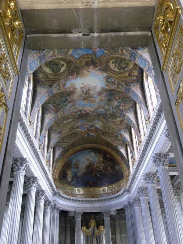 with painted ceilings