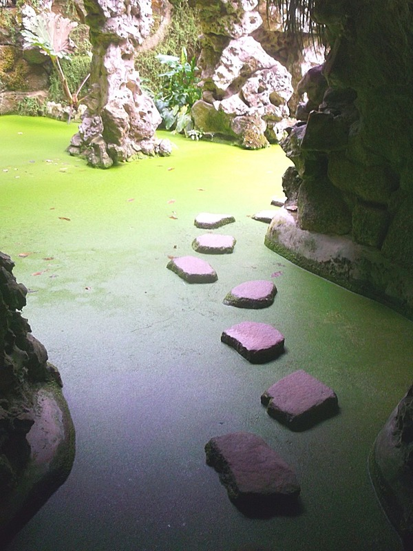 and stepping stones to escape the tunnels