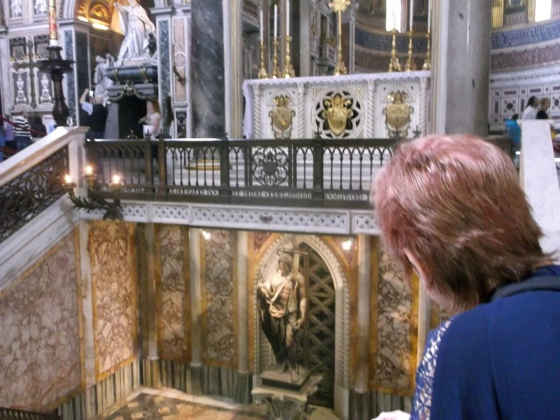 Looking into St. Johns crypt under the High Altar