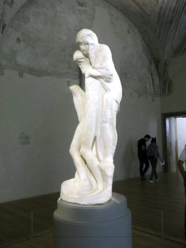 seeing the incomplete Michelangelo Pieta
