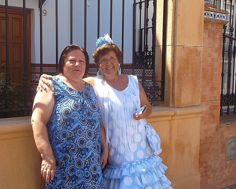 Carlos mother Carmen and her friend Isabel