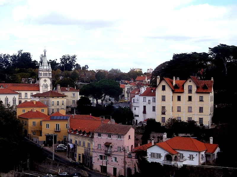the township of Sintra is built on the hillside