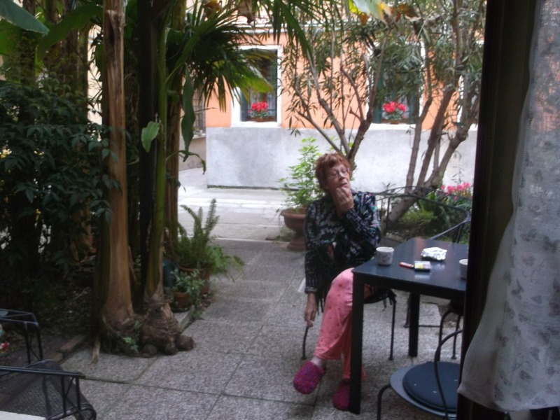peaceful courtyard Venice