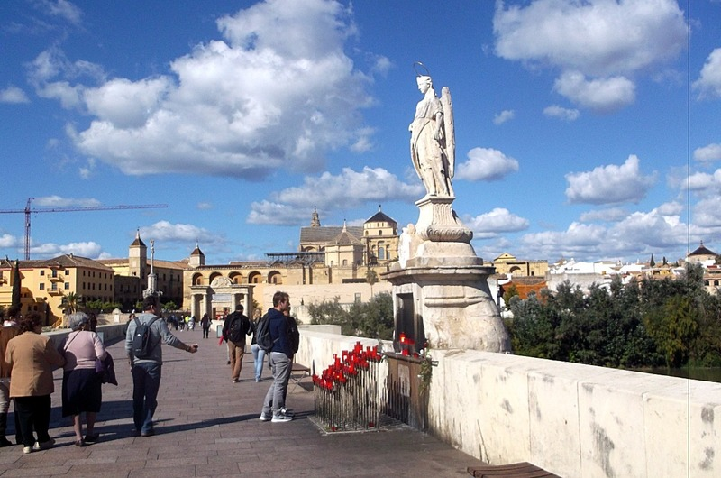 past 17th century statue of St. Raphael