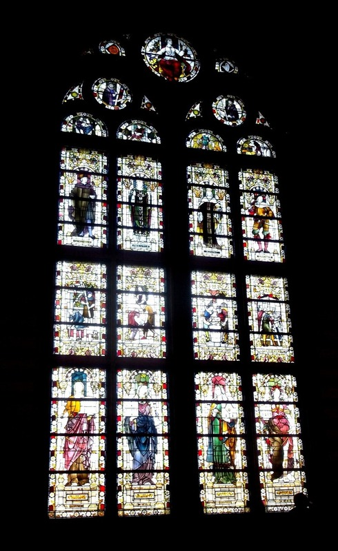Examples of colourful stained glass