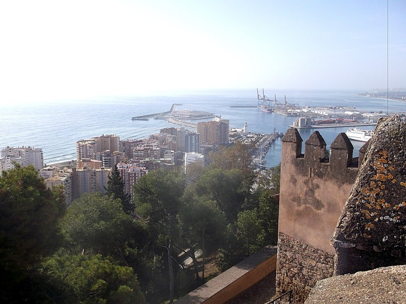 high above Malaga