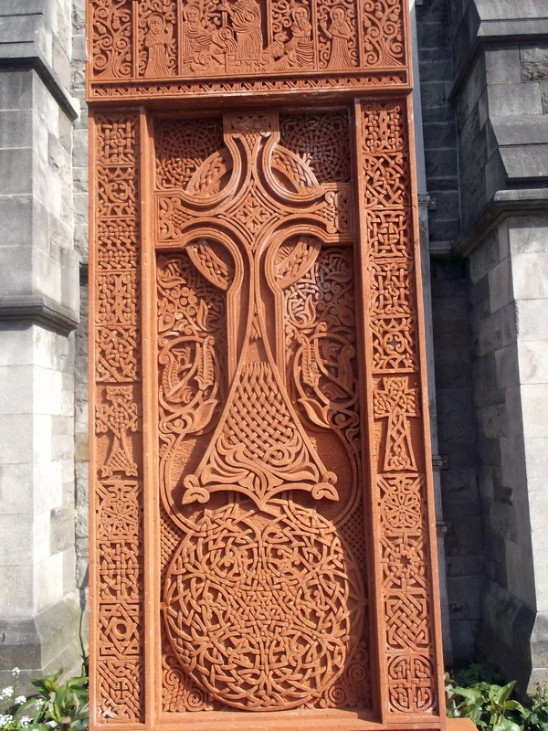 Beautiful Celtic Cross on Cathedral Grounds