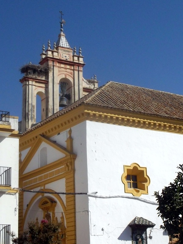 church in Utrera town square