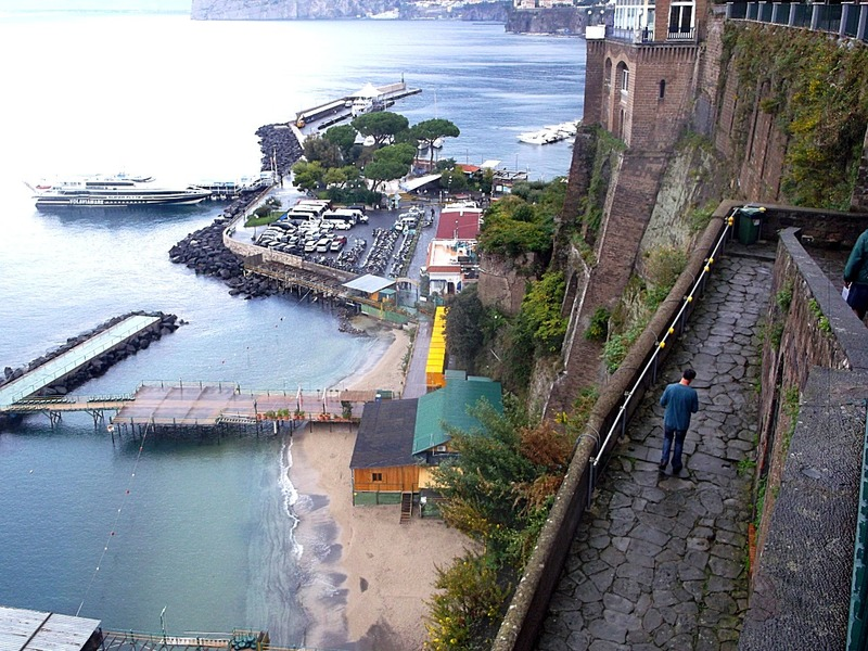 and a series of ramps that lead to the water