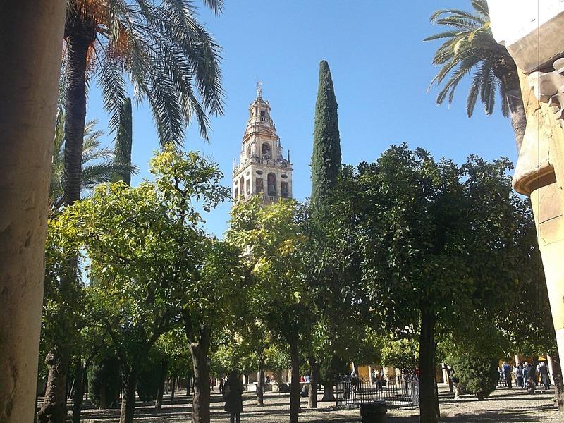the Minaret/Belltower in the Court of Oranges