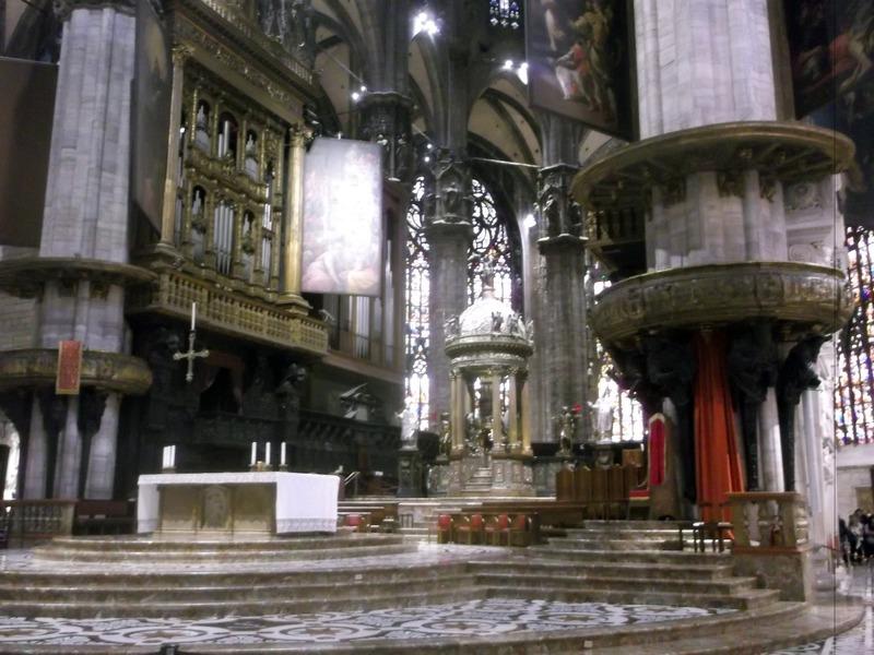closer look at altar