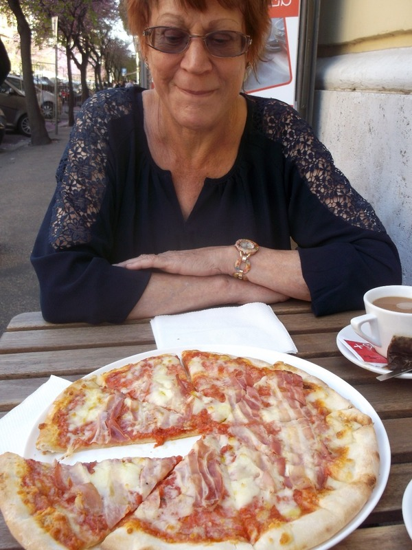 Our first pizza in Rome, eat your heart out Hannah