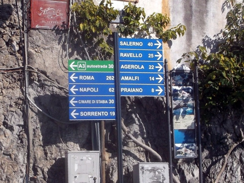 standing here waiting for coach to Amalfi