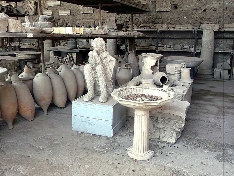 with many artifacts