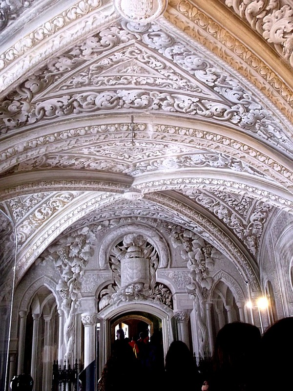 ornate vaulted ceilings throughout