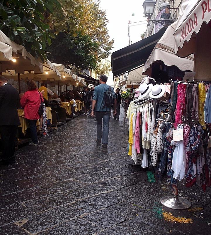lane after lane of market stalls