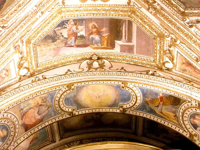 painted ceiling of crypt