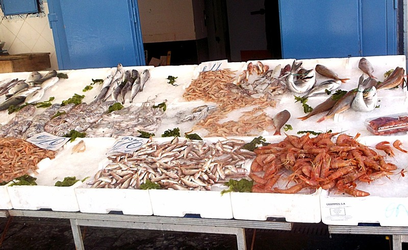 With locally caught fish