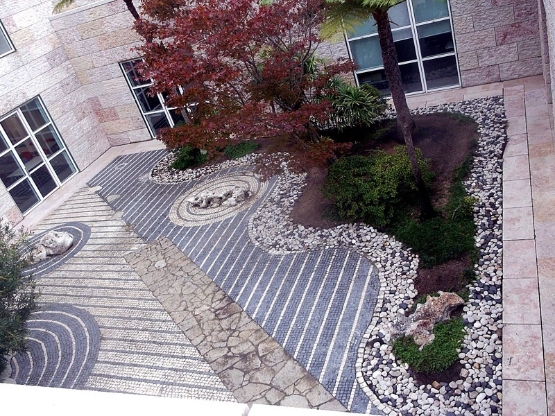 and overlooks delightful courtyards