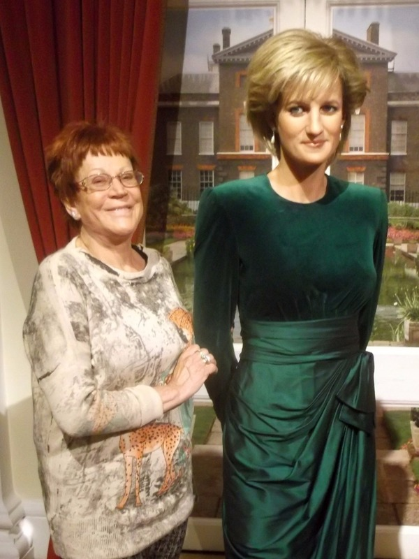 with Princess Diana