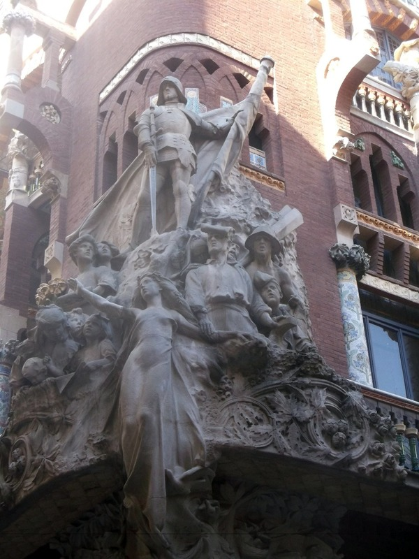 the corner sculptural group ( the Catalan Song)