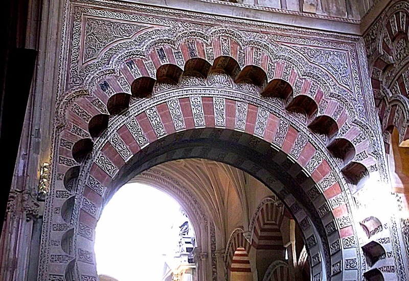 hundreds of finely detailed arches