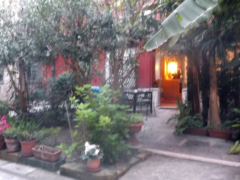 our private courtyard in Venice