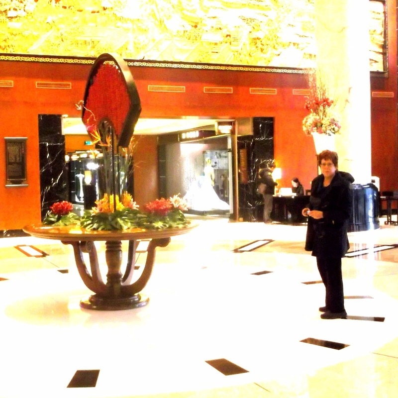 Leone in reception area