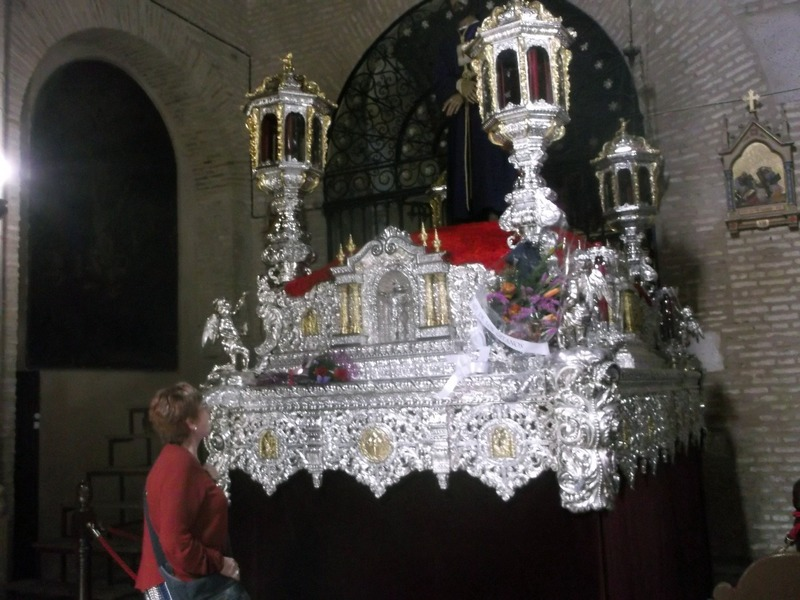 floats for processions stored inside