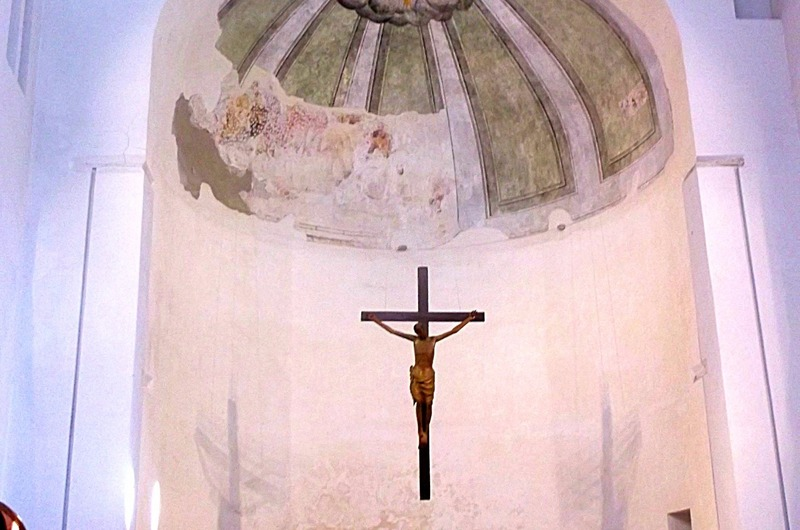 9th cent. basilica with 12th cent. lifesize cross