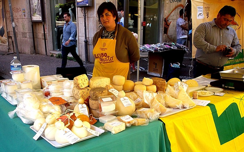local cheeses, wines and olive oils