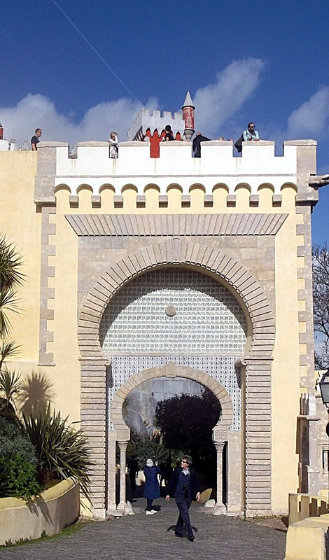 first entrance to the courtyard